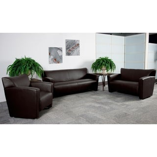 Hercules Majesty Series Leather Reception Area Seating Set