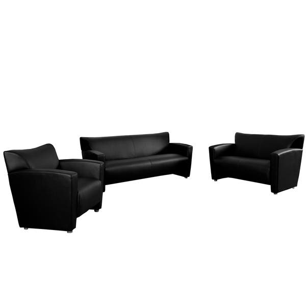 Tremendous Shop Porch Den Wells Leather Reception Area Seating Set Camellatalisay Diy Chair Ideas Camellatalisaycom