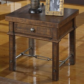 Emerald Home Castlegate Rustic Square End Table