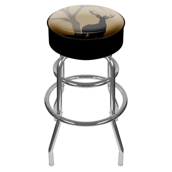 Hunting Deer Padded Swivel Bar Stool