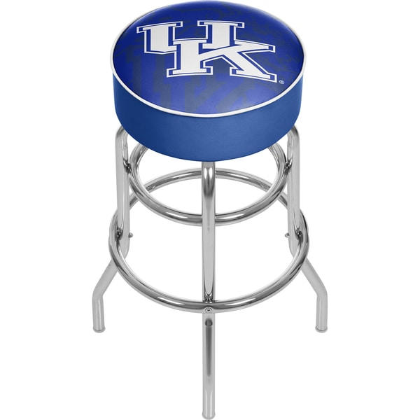 University of Kentucky Wildcats Chrome Bar Stool with Swivel
