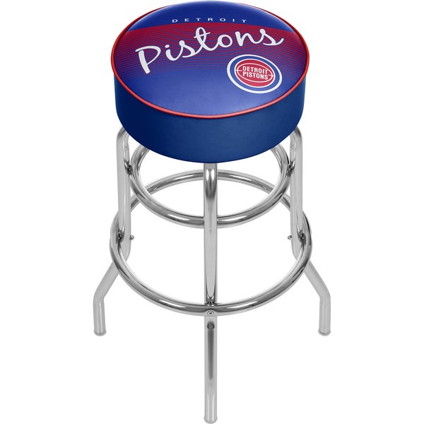 Detroit Pistons NBA Hardwood Classics Padded Swivel Stool