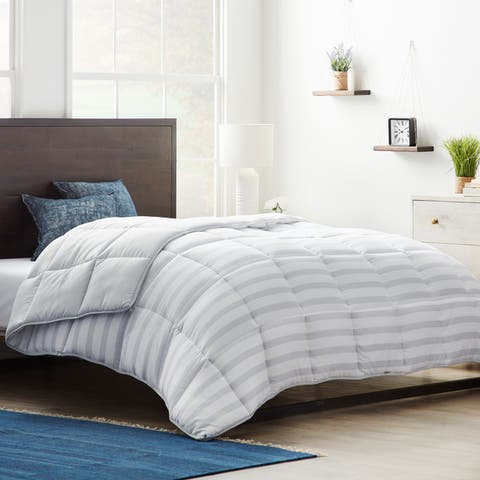 Brookside Down Alternative Reversible Quilted Comforter w/Duvet Tabs