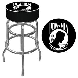 POW Logo Padded Bar Stool