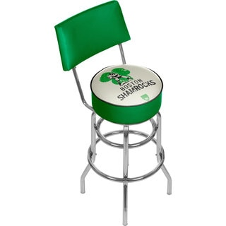VAF Boston Shamrocks Padded Swivel Bar Stool with Back