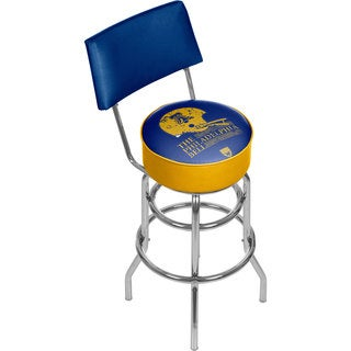 VAF Philadelphia Bell Padded Swivel Bar Stool with Back