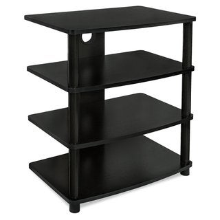Mount-it! MI-868 Contemporary Multi-level Media Component Stand with Four Black Wood Shelves