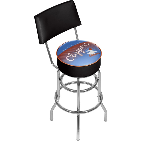 San Diego Clippers Hardwood Classics Bar Stool with Back