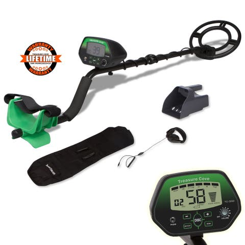 Digital Metal Detector Set - Fast Action TC-3050 Metal Finder Kit With Waterproof Coil
