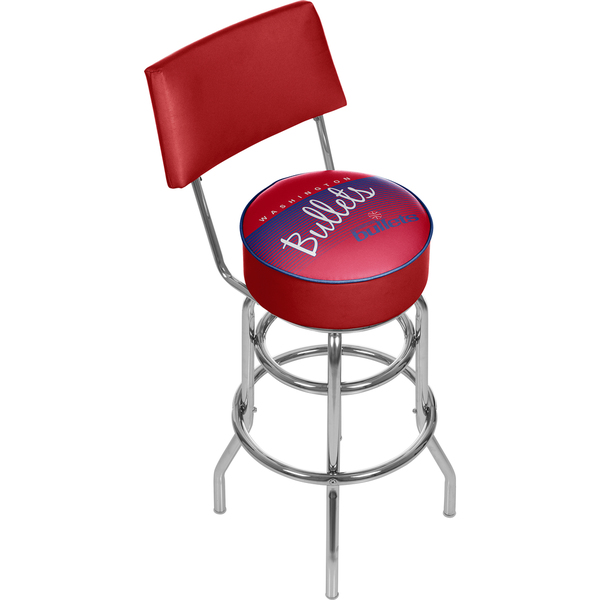 Washington Bullets Hardwood Classics Bar Stool with Back