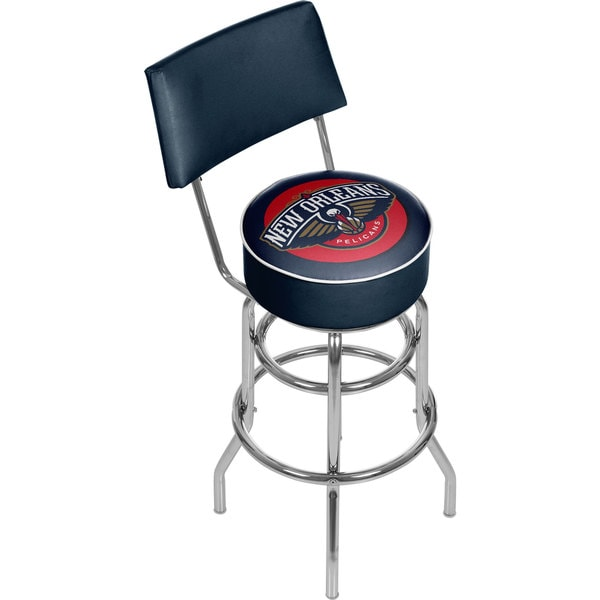 New Orleans Pelicans NBA Padded Swivel Bar Stool with Back