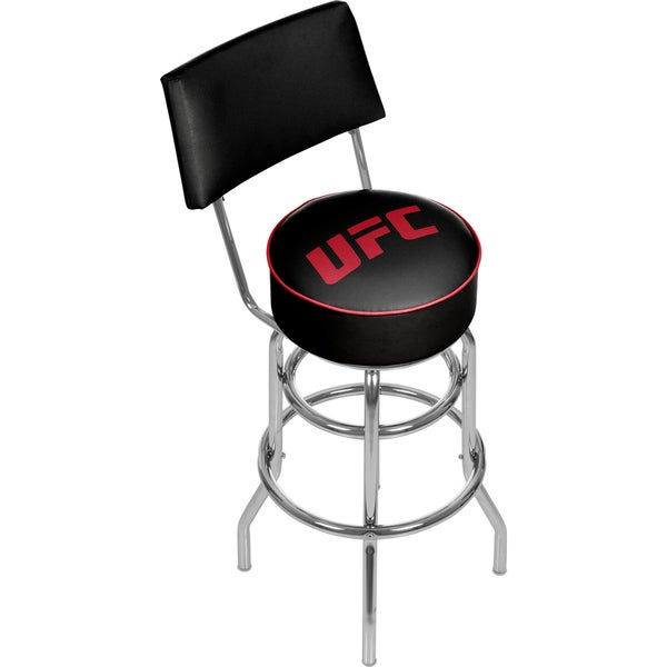 UFC Padded Swivel Bar Stool with Back