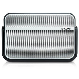 Turcom TS-458 Portable IPX5 Water Resistant Bluetooth Wireless Mini Speaker with Bass Boost and Mic (Option: Silver)