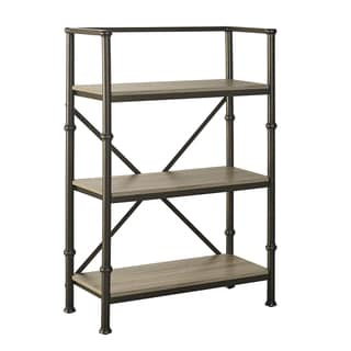 Griffeth 44-inch Wood and Steel Bookcase