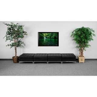 Hercules Imagination Series Black Leather Four Seat Bench
