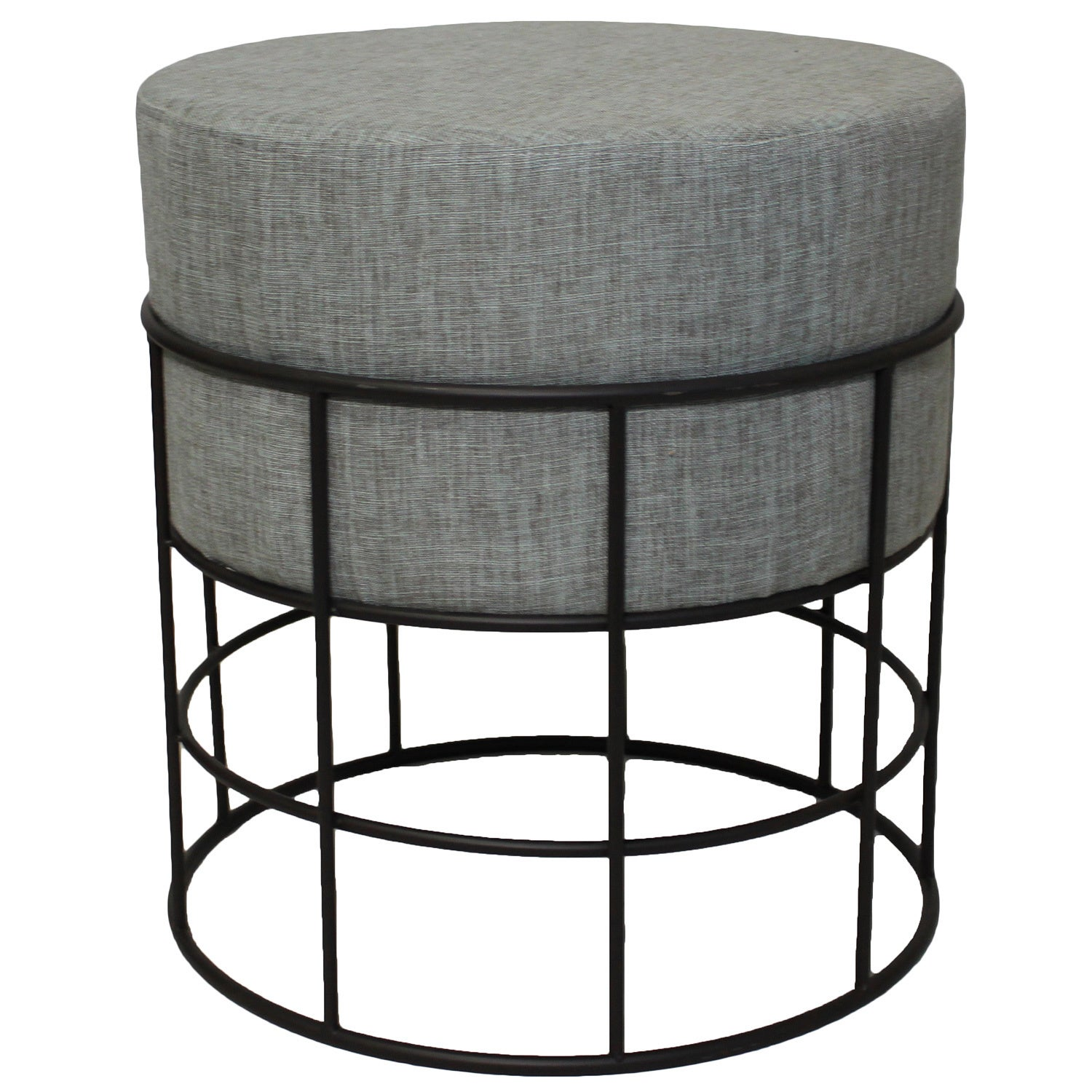 Super Modern Designs Indoor Outdoor Round Metal And Fabric Ottoman Caraccident5 Cool Chair Designs And Ideas Caraccident5Info