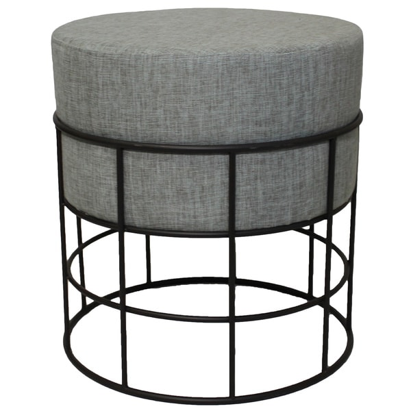 Modern Designs Round Metal And Fabric Ottoman Free