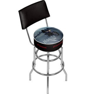 Honda Shadow Padded Swivel Bar Stool with Back