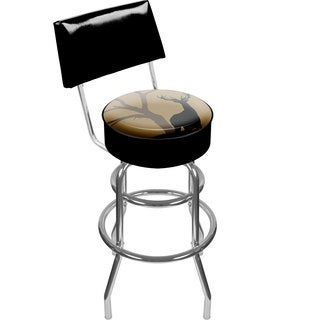 Hunt Deer Padded Swivel Bar Stool with Back
