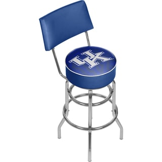 University of Kentucky Swivel Bar Stool with Back