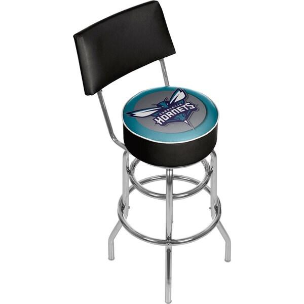 Charlotte Hornets NBA Padded Swivel Bar Stool with Back