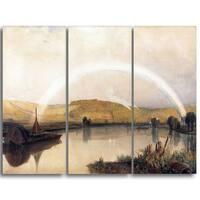 Design Art 'Peter DeWint - On the Thames' Canvas Art Print