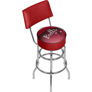 Chicago Bulls NBA Hardwood Classics Bar Stool with Back
