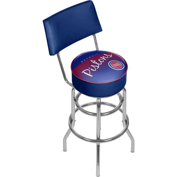Detroit Pistons NBA Hardwood Classics Bar Stool with Back