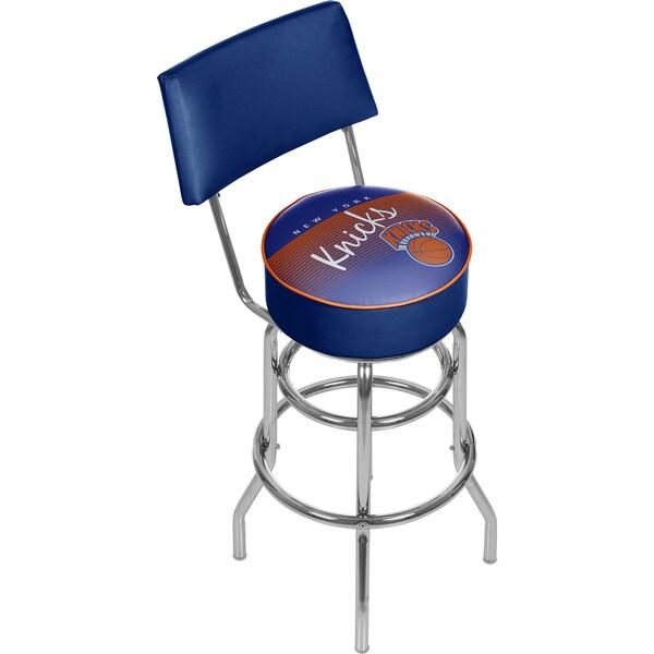 New York Knicks NBA Hardwood Classics Bar Stool with Back
