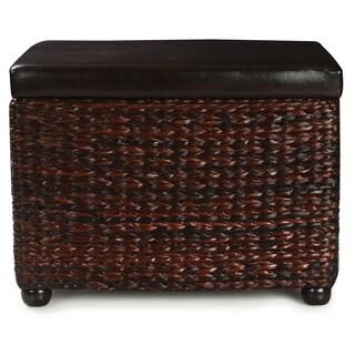 High End Classy Rectangular Storage Bench Ottoman