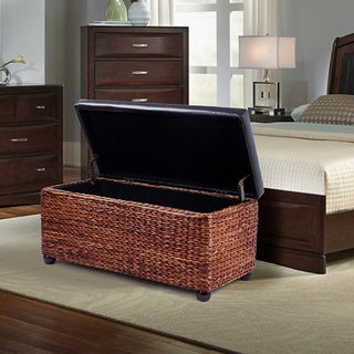 High End Classy Rectangular Storage Bench Ottoman