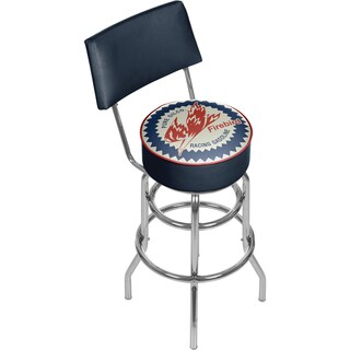 Pure Oil Swivel Bar Stool with Back
