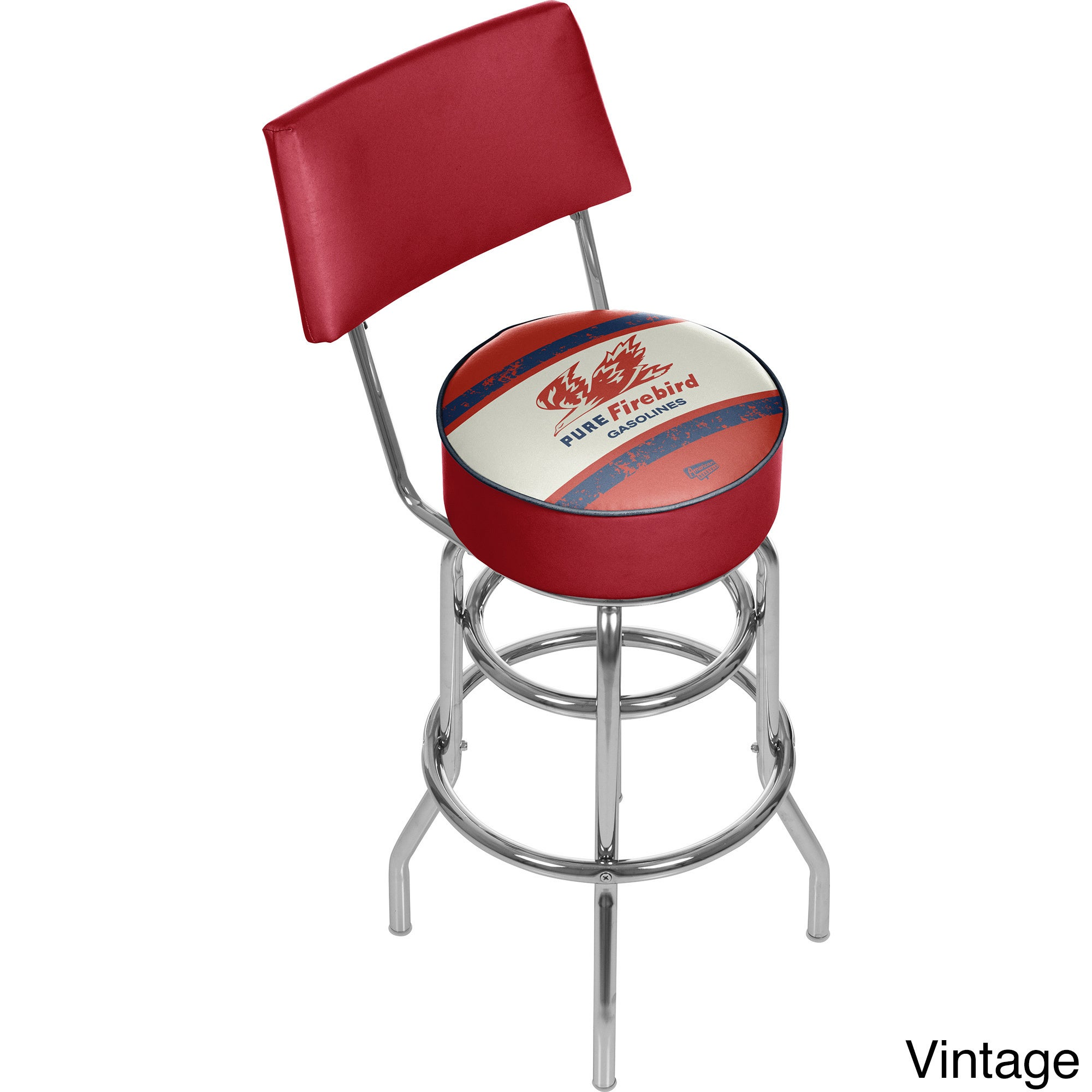 Trademark Gameroom Pure Oil Swivel Bar Stool with Back (V...