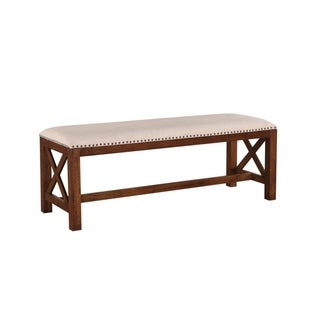 American Traditional Upholstered Bench