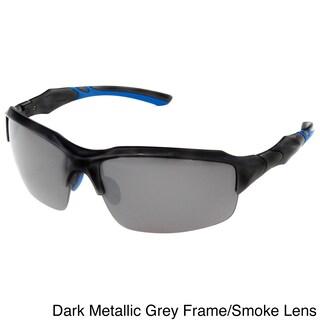 Hot Optix Men's Semi-Rimless Sport Wrap Sunglasses - Large