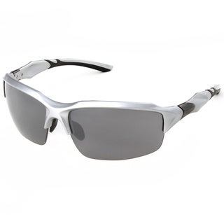 Hot Optix Men's Semi-Rimless Sport Wrap Sunglasses