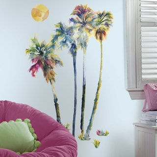 RoomMates Watercolor Palm Trees Peel and Stick Wall Decals