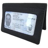 Unisex Continental Leather Bi-fold Cardcase Front Pocket Wallet