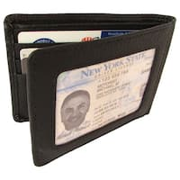 Men's Continental Leather Black Bifold Wallet