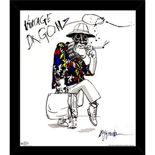 Ralph Steadman Dr. Gonzo Print (24-inch x 28-inch) with Traditional Black Frame