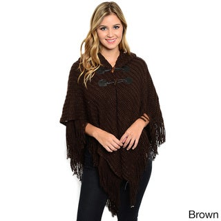 Shop the Trends Women's Knit Poncho