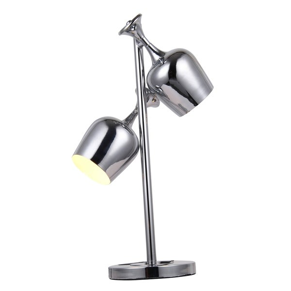 Elegant Lighting Industrial Collection TL1247 Table Lamp with Chrome Finish