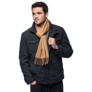 HTC Men's Cashmere Luxury Fringe Scarf