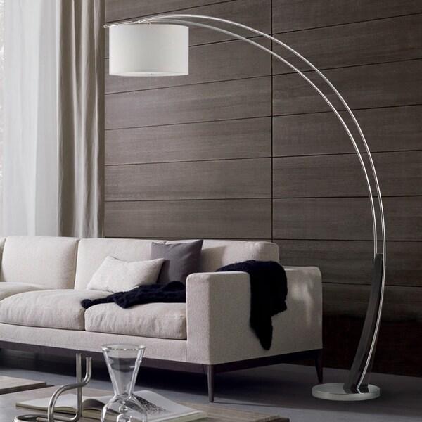 Toro Chrome 1 Light Arc Floor Lamp