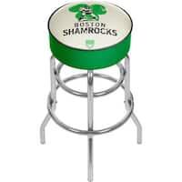 VAF Boston Shamrocks Padded Swivel Bar Stool