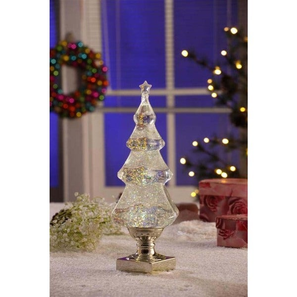 Lead Free Christmas Trees: Gold Christmas Tree With Water LED