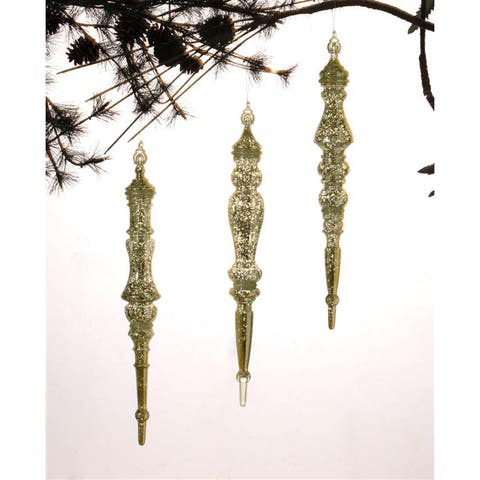 Gold Drop Ornaments (Set of 3)