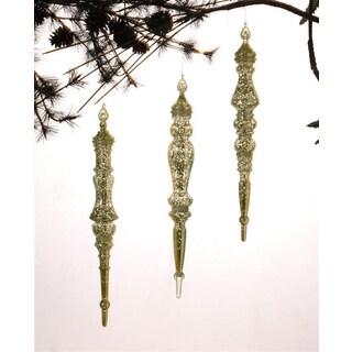 Gold Drop Ornaments (Set of 3)