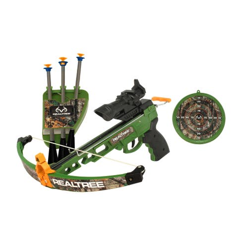 "RealTree Child Play Youth Pistol Crossbow (14"") set with LED scope - Not Applicable"