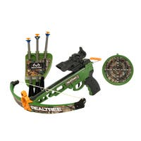"RealTree Child Play Youth Pistol Crossbow (14"") set with LED scope"